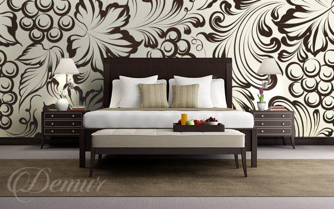 Cremefarbene Weintrauben - für Schlafzimmer - Fototapeten - Demur