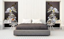 Schönheit der Orchideen - für Schlafzimmer - Fototapeten - Demur
