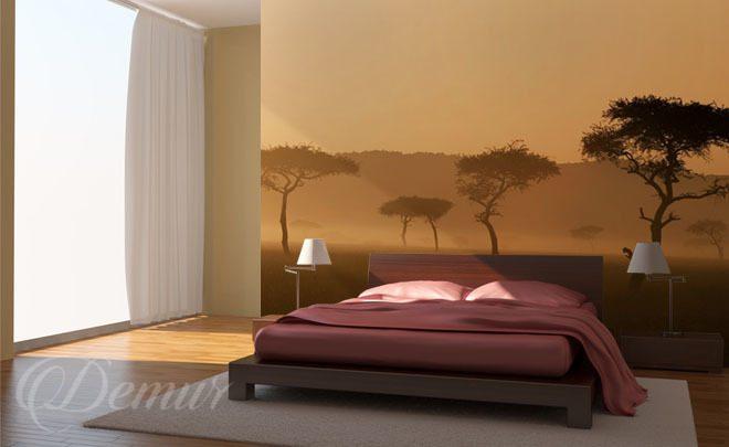 Schlafzimmer im Nebel - für Schlafzimmer - Fototapeten - Demur