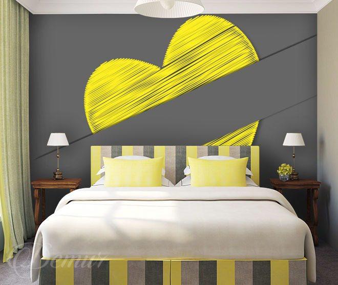 Verstecktes Herz - für Schlafzimmer - Fototapeten - Demur